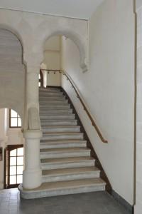 Escalier emprunté par Léonie pour rejoindre sa chambre
